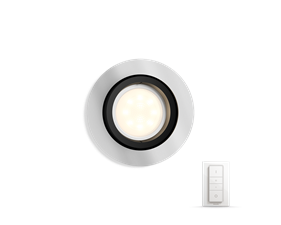 Hue Milliskin recessed spot 1x5.5W - round aluminum colored frame - with Hue Switch
