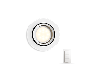 Hue Milliskin recessed spot 1x5.5W - round white frame - with Hue Switch