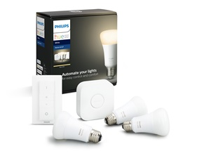 Hue White 3 Bulb + Switch Set 9.5W A60 E27