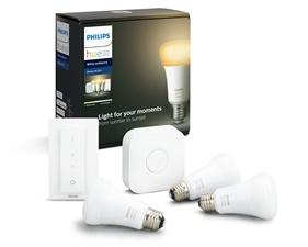 Hue White Ambiance 3 Bulb starter Kit 9.5W A60 E27