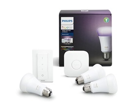 Hue White and Color Ambiance 3 Bulb starter Kit 10W A60 E27