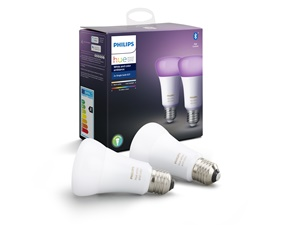 Hue White and Color Ambiance 10W A60 E27 2 Pack