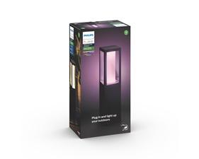 Impress Hue White and Color Ambience Pedestal Svart - 8W - Low Volt - Startpaket