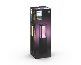 Impress Hue White and Color Ambience Pedestal Svart - 8W 230V