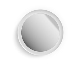 Philips Hue Adore Wall Light with Mirror - White - IP44 230V