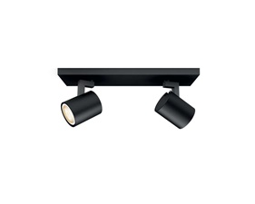 Philips Hue Runner Black 2x5,5W - With Hue Dim Switch