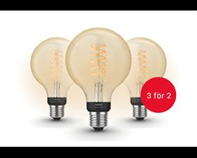 BLACK WEEK-ERBJUDANDE 3 för 2: Hue White Filamentlampa 7W G93 E27