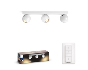 Philips Hue Buckram white 3x5,5W - With Hue Dim Switch