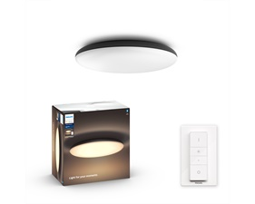 Philips Hue Cher Ceiling Lamp Black 1x39W - With Hue Dim Switch