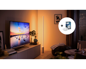 Philips Hue Signe Golvlampa - White and Color Ambience + Hue Smart Plug