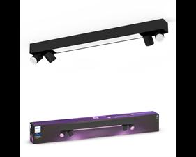 Taklampa & spotlights - Centris Hue special form black 4x5.7W