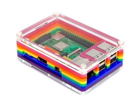 Pibow Rainbow 3 B+ (Raspberry Pi 3 B+, 3, & 2)