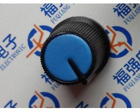 Knob plastic blue
