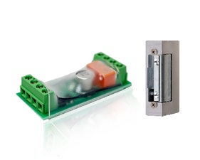 Electronic door opener controller including strike lock