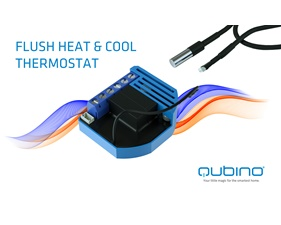 Flush Heat & Cool Thermostat - Gen5 - Qubino