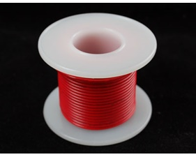 Hook-up wire spool - Red - 25 ft (7,5m)