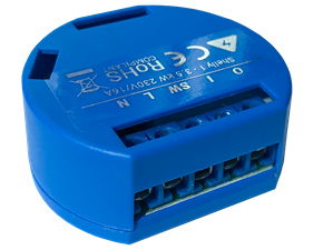 Enkanalig fjärrströmbrytare för inbyggnad WiFi - Shelly 1