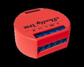 Shelly 1PM WiFi - enkanalig fjärrströmbrytare med energimätning  för inbyggnad