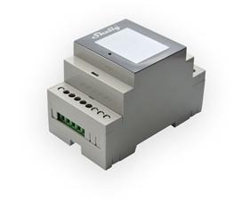 DIN fjärrströmbrytare med 4 kanaler för av/på och effektmätning - Shelly 4Pro -
