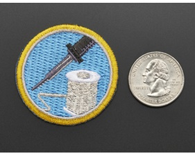 Learn to solder - Skill badge, iron-on patch (44mm)