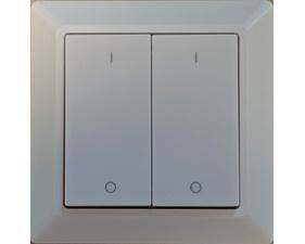 Fjärrströmbrytare, dubbelknapp med 4 funktioner - Zigbee