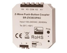 Inbyggnadsknapp 4 kanaler - Z-wave Push-button Coupler