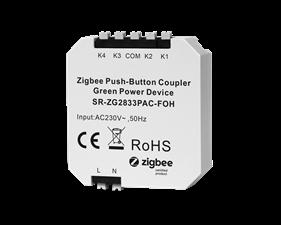 Inbyggnadsknapp 4 kanaler - Zigbee Push-button Coupler - Friends of Hue