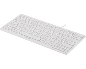 Tangentbord Mini med dämpade tangenter USB. Vit