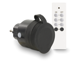 Remote Controlled Socket Slim 433Mhz Outdoor IP44 incl. remote control