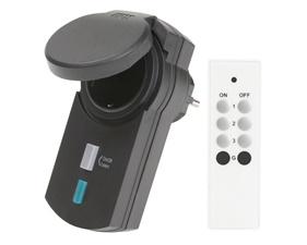 Utomhusbrytare IP44 433MHz med fjärrkontroll
