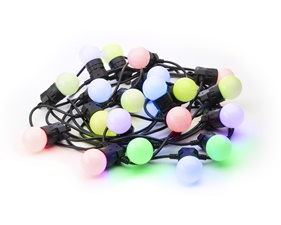 FYND Festoon Lights Startup kit 20 RGB LED G45 Bulbs, 10 meter
