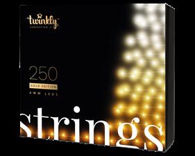 Julbelysning 250 LED (Gold Edition) 23,5 meter - Svart - IP44 - uppkopplad