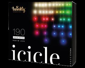 Julbelysning 190 LED (RGB+W) 500x60cm meter - transparant kabel - IP44 - uppkopplad