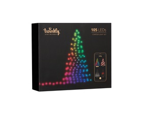 Julgransbelysning 105 LED (RGB) 13 meter, IP44 - uppkopplad