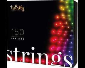 Julgransbelysning 150 LED (RGB) 15,5 meter - svart kabel - IP44 - uppkopplad