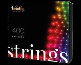 Julgransbelysning 400 LED (RGB) 35,5 meter - svart kabel - IP44 - uppkopplad