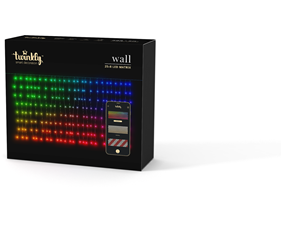 Twinkly wall 25*8 LED (RGB) 3,75x1,2m, IP44 - uppkopplad