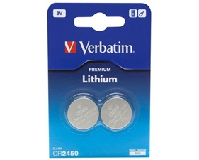Lithiumbatteri 3V - CR2450 - 2-pack