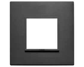 Eikon Evo Black - Cover frame 2M aluminum total black