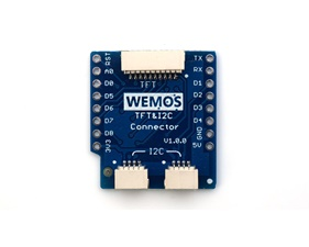 TFT I2C Connector Shield for WEMOS D1 mini 1xTFT and 2xI2C Connector