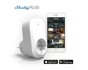 Shelly Plug WiFi - Fjärrströmbrytare med energimätning - Vit