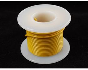 Hook-up wire spool - Yellow - 25 ft (7,5m)