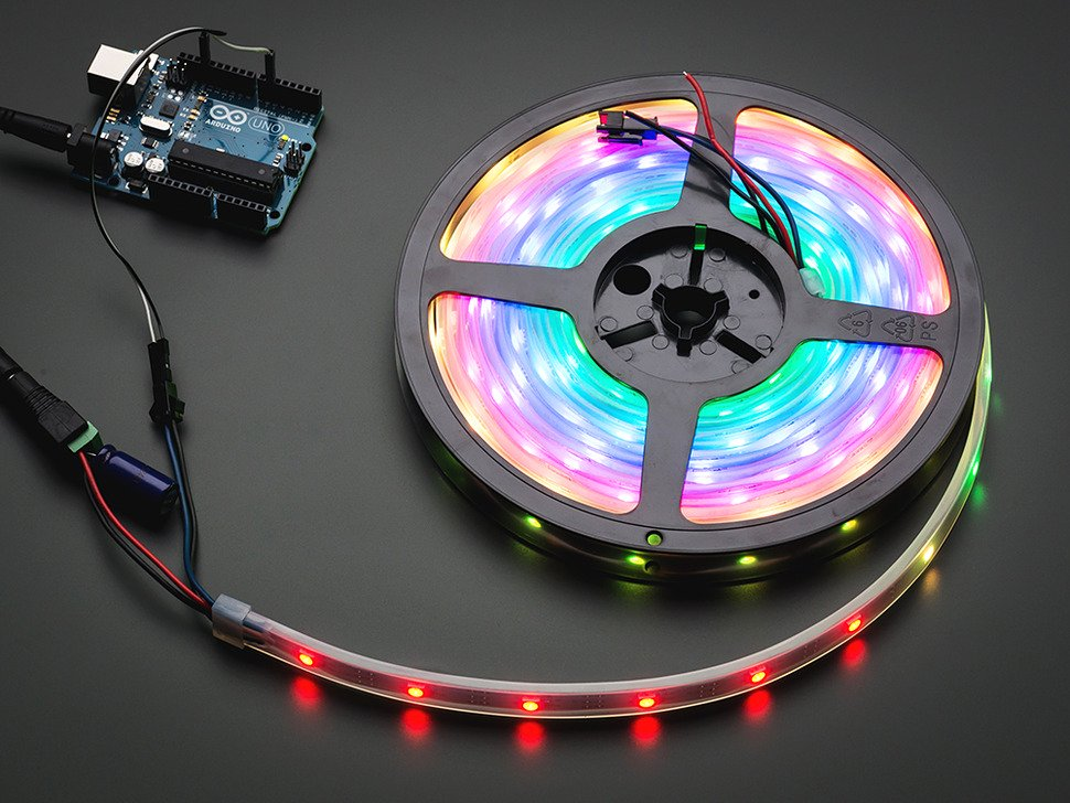 Köp NeoPixel Digital RGB LED Strip - 30 LED/m (White PCB) - 1m (1376) för  143 Kr hos m nu