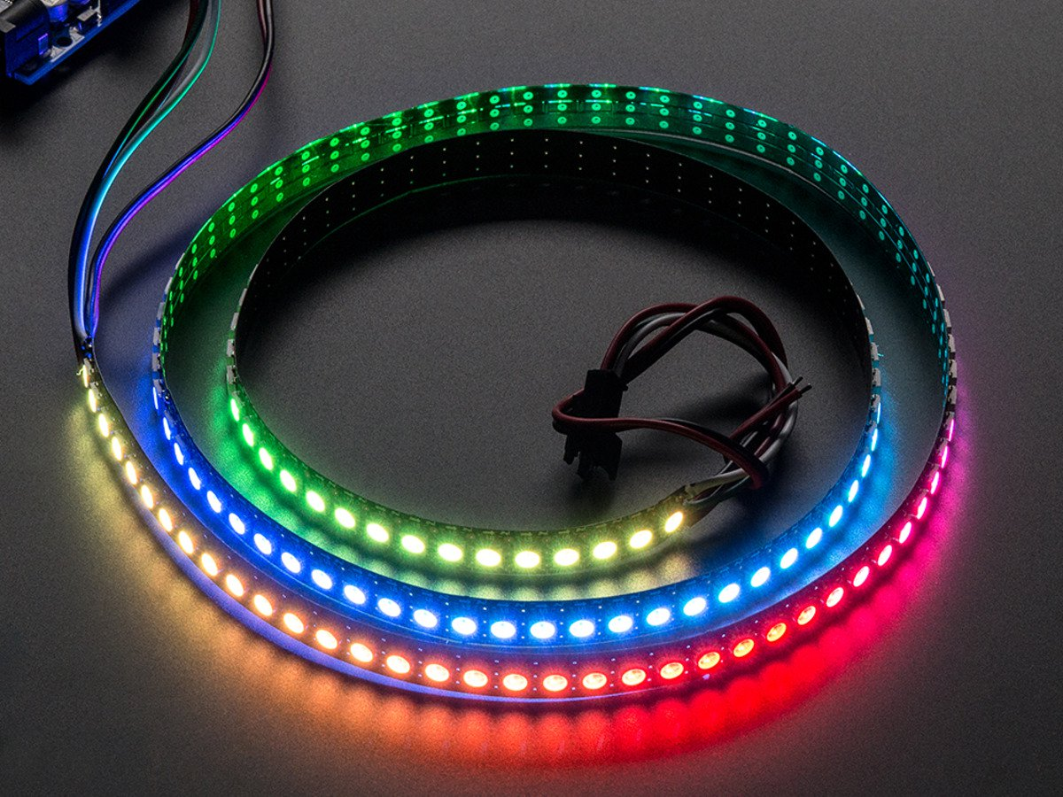 Köp NeoPixel Digital RGB LED Strip 144 LED - 1m Black - BLACK (1506) för  399 Kr hos m nu