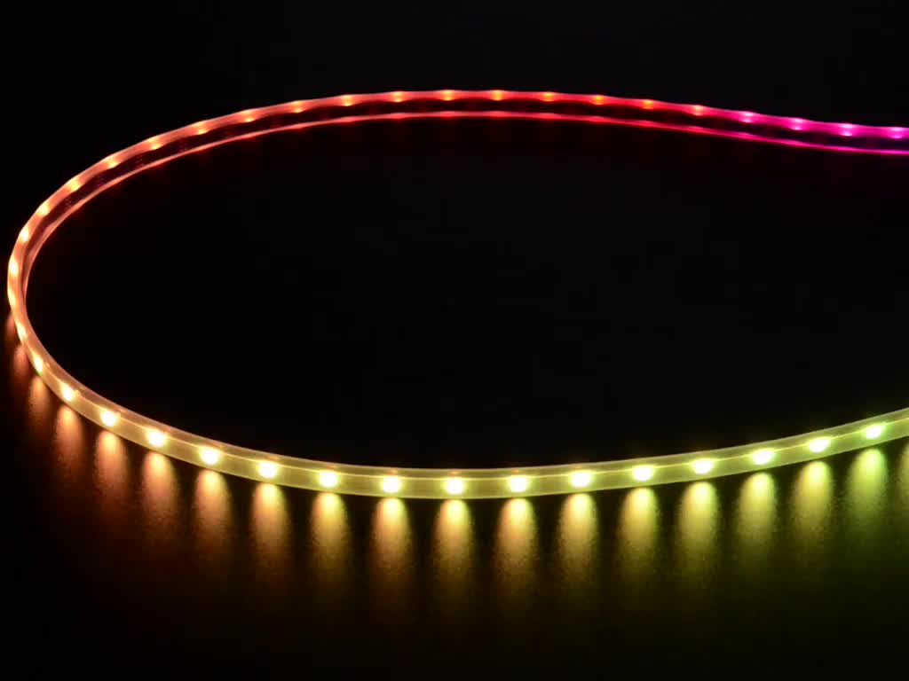 Köp Mini Skinny NeoPixel Digital RGB LED Strip - 60 LED/m (Black PCB) - 1m  (2964) för 199 Kr hos m nu