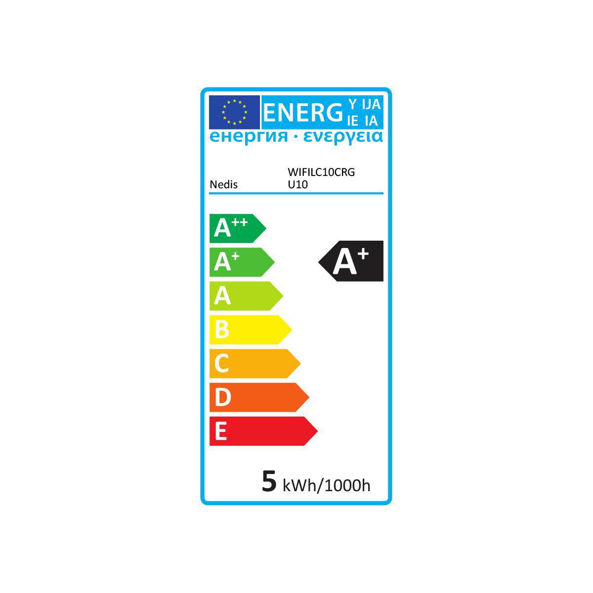 Köp Smart LED-lampa Fullfärg och varmvit GU10 - 5W - 360 lumen  (WIFILC10CRGU10) för 249 Kr hos m nu